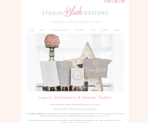 Wedding stationery website design