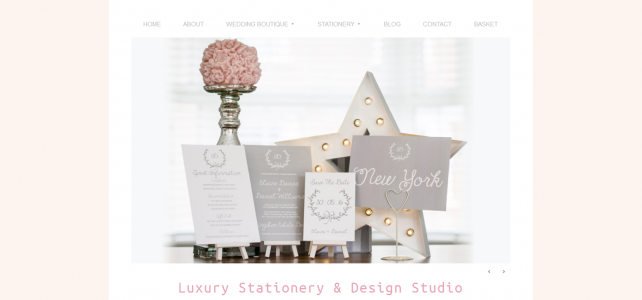 New Website for Luxury Wedding Stationery Business – Studio Blush