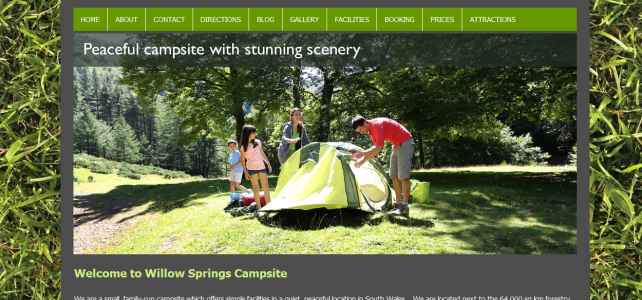 Website Design Project – Willow Springs Campsite